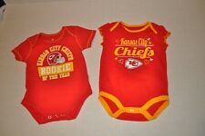 Kansas City Chief 3/6 Months Toddler One Piece Red Rookie Set New Without Tags