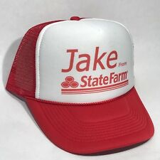 Jake From State Farm Trucker Hat Halloween Easy Instant Costume Snapback Cap Red