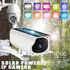 1080P Wireless Solar Ip Camera Wifi Security Surveillance Night Vision Outdoor