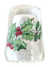 Fingerhut de vaso de cristal estampado weihnachtsbouquet-ae 762