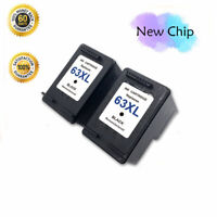 2PK Black Ink Cartridges for HP 63XL Deskjet 1110 1112 2130 3630 3632 3634