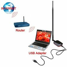 USB Wi-fi Adapter 1W High Power Wireless Network Card for Desktop Crack WEP Wifi