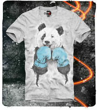 E1SYNDICATE T SHIRT PANDA BOXER BOXING HIPSTER TYSON INDIE MMA UFC HOLYFIELD GR