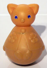 Vintage 1970's Roly Poly Musical Bear / Cat Toy - Mothercare