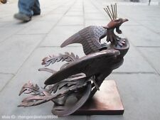 Chinese Myths legends Red Bronze sparrow phoenix Immortal bird Bird statuary
