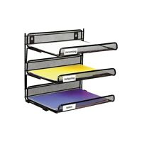 Staples Black Wire Mesh 3-Tier Desk Shelf 827873