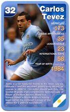 Carlos Tevez - Manchester City Football Club Specials Top Trumps Card (C461)