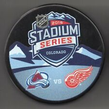 2016 Stadium Series Colorado Avalanche Red Wings Coors Field NHL Hockey Puck