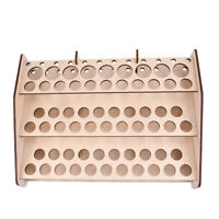 74 Hole Wooden Pigment Bottle Storage Organizer Color Paint Ink Brush Stand W91