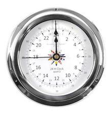 24 Hour Clock Flag Dial  - Polished Brass / Chromed / Varnished C24H 2000D - CH