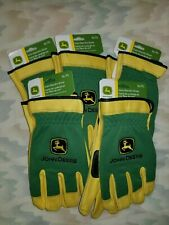 John Deere Deerskin Palm Work Gloves Garden Yard Grass