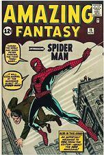 Amazing Fantasy #15 Facsimile Marvel Cover Only 1st App Spider-Man Key Ditko