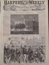 The Boys In Blue At Philadelphia 1868 Harper's Weekly Original Print