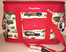 Tommy Bahama BRIGHT TOMATO RED RETRO DESIGN INSULATED COOLER BAG.  BRAND NEW.