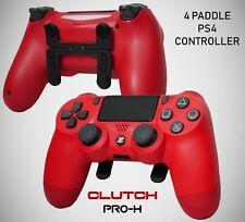 Clutch Pro-H 4 Paletas Personalizadas PS4 Controlador Rojo DualShock 4 como Scuf Scuff