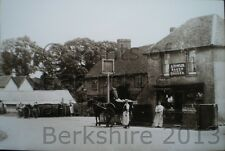 PRINT 10 X 7  BURGHFIELD THE SIX BELLS INN & THE BAKERY C1902 CLOSE UP