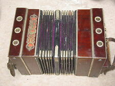 "Interesting, old Concertina Bandoneon Bandonion Accordion ""F. Lange Chemnitz"""