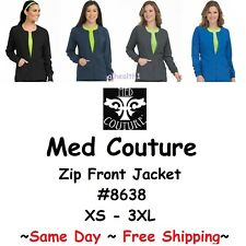 Med Couture Zip Front Warm Up Jacket 8638 New ~Same Day~Free Shipping~