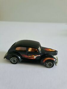 Vintage Hot Wheels early 40 Ford 2 door in black with flams and Goodyear wheels