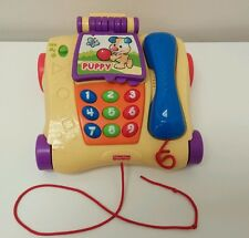 Fisher Price Laugh & Learn Musical Telephone Pull Toy Kids Baby Pretend Play