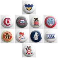 "CHICAGO CUBS VINTAGE - MLB baseball retro pinback buttons - pin - 1"" pins"
