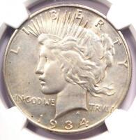 1934-D VAM-4 Doubled Die Obverse Peace Silver Dollar $1 DDO - NGC AU Details!