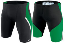 NIKE Green Performance Poly Team Splice Jammer Men's $54.00 Swimsuit NWT Size 30
