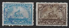 1898 US Lot of Two Used First Issue Documentary Stamps, SC# R163 & R168 *F*