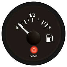 VDO Viewline Onyx Fuel Gauge 12/24V - Use with 3-180 Ohm Sender