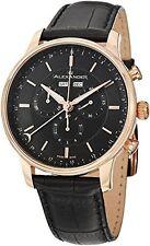 Alexander A101-04 Statesman Chieftain Mens Chronograph Black Leather Swiss Watch