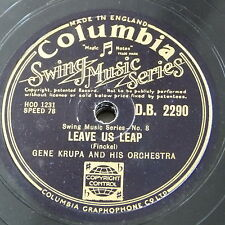 78rpm GENE KRUPA leave us leap / that drummers band