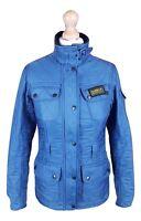 #724 Barbour International Ladies Steel Blue Polarquilt Utility Jacket, UK 6