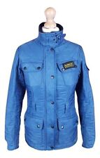 #724 Barbour International Ladies Steel Blue Polarquilt Utility Jacket, UK 6