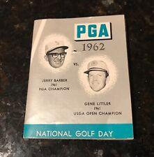New listing 1962 Gene Littler Jerry Barber National Golf Day Medal PGA with Complete Booklet