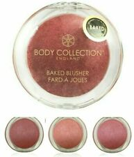 Body Collection Baked Blusher Rose Pink Glow Shimmer Peach Powder Makeup Face