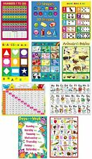 10 X KIDS CHILDRENS EDUCATIONAL  POSTERS LEARNING CHARTS A4 NURSERY SCHOOL HOME