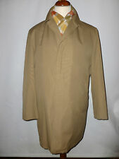 MENS DHOBI   BRITISH MADE TRENCH/RAIN COAT WITH QUILTED LINING - SIZE UK  42