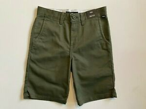 Vans New Authentic Stretch Grape Leaf Shorts Boy's Youth 26/12