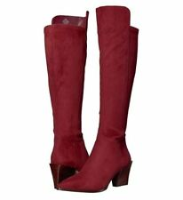 Nine West Women's Earta Pointed Toe Over the Knee Tall Boots Wine 10.5M 12M NIB