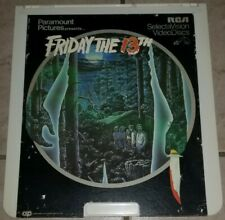 Friday The 13th  CED Videodisc Selectavision