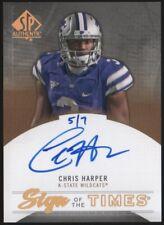 2013 Chris Harper SP Authentic Sign of the Times Gold Auto Autograph 5/7 RC