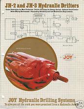 Equipment Brochure - Joy - JH-2 3 Hydraulic Drifter Rock Drill Mining (E3187)