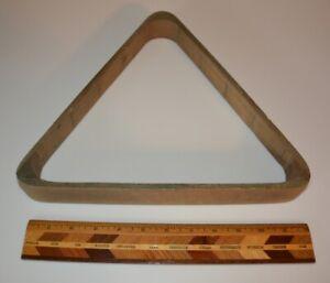 Vintage Pool Billiards Wood Triangle Ball Rack NR