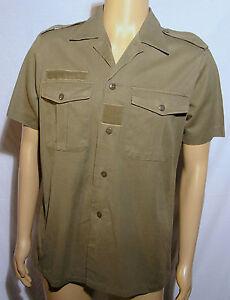 Chemise chemisette manche courte kaki armée militaire