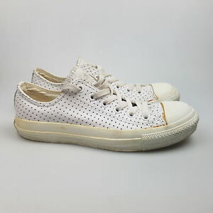 Women's CONVERSE 'CT Low Leather' Sz 8 US Shoes White AVGCon   3+ Extra 10% Off