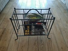ornate rustic metal magazine holder rack stand. beautiful
