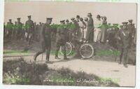 WW1 POSTCARD LORD KITCHENER AT SALISBURY PLAIN FULLER REAL PHOTO AMESBURY 1915