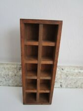 """Wooden Thimble or Miniature Display 10 Compartments 7"""" tall"""