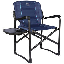 Folding Directors Chair Full Back Padded With Side Table Aluminum Heavy Duty