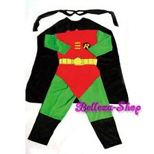 Robin Superhero Costume Cosplay Outfit Halloween Fancy Party Size 4-5T FC007